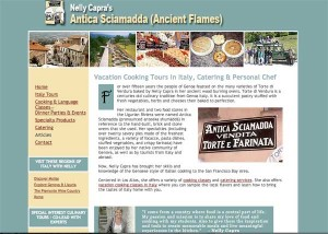 Nelly Capra's website, celebrating Italian food and Italian way of life